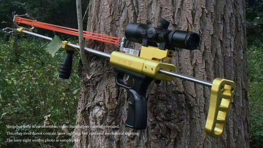 Как сделать мощную рогатку для охоты своими руками?