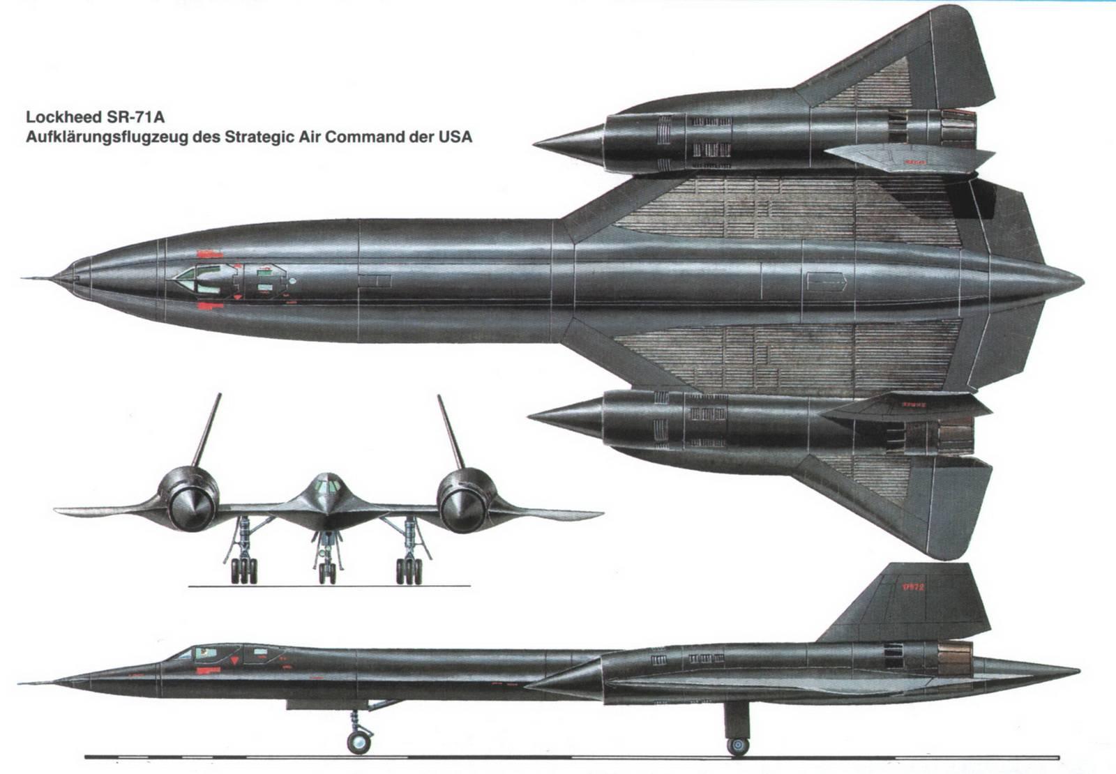 """Американский разведчик Lockheed SR-71 – """"Чёрный дрозд"""" из будущего"""
