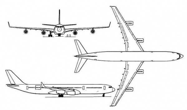 Самолет airbus a340-300