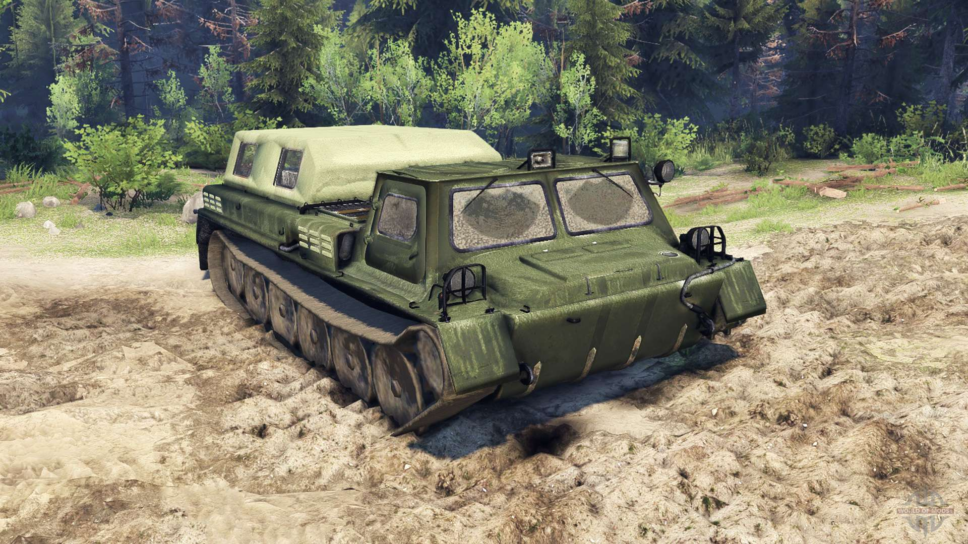 Газ-71 - тягач-вездеход, гусеничный бронированный транспортёр