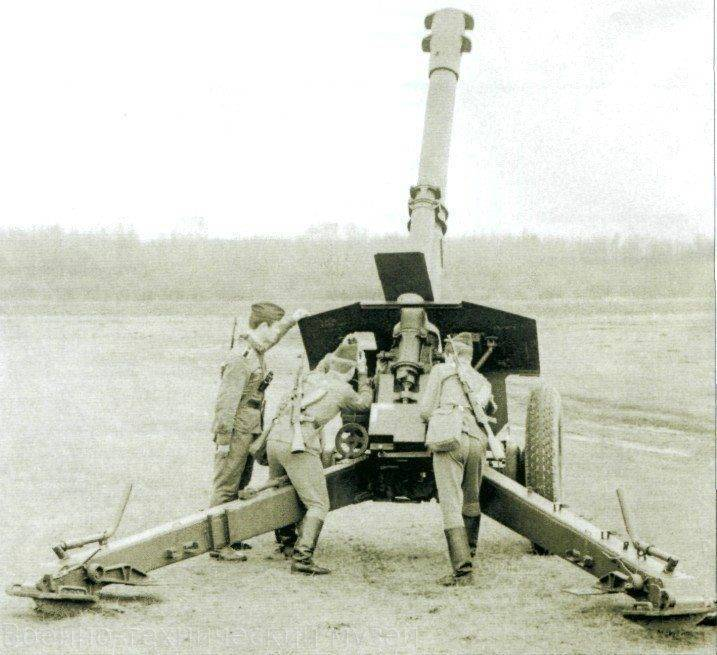 152-мм гаубица д-1. ттх. фото. видео
