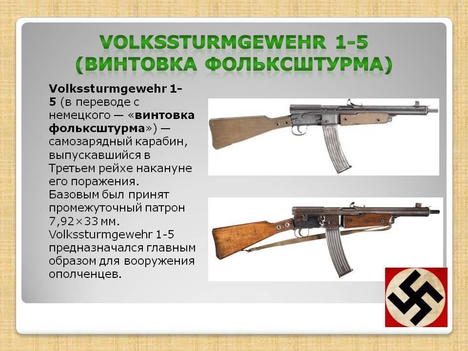 Volkssturmgewehr 1-5 — википедия. что такое volkssturmgewehr 1-5