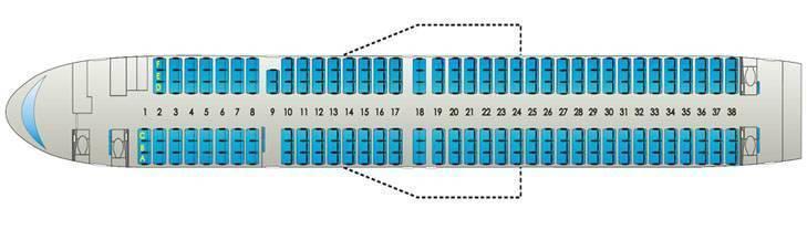 Boeing 737-800: схема салона, лучшие места