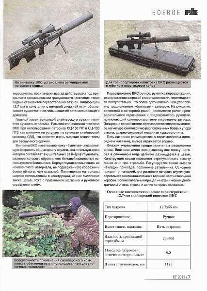 Снайперская винтовка ВССК Выхлоп