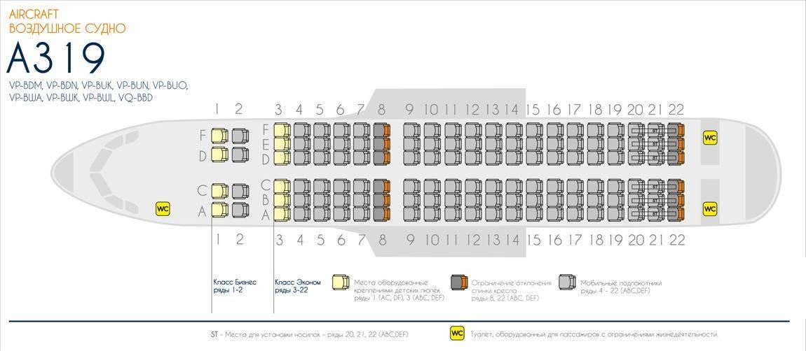 Лучшие места в самолетах airbus a320, a321 и a319