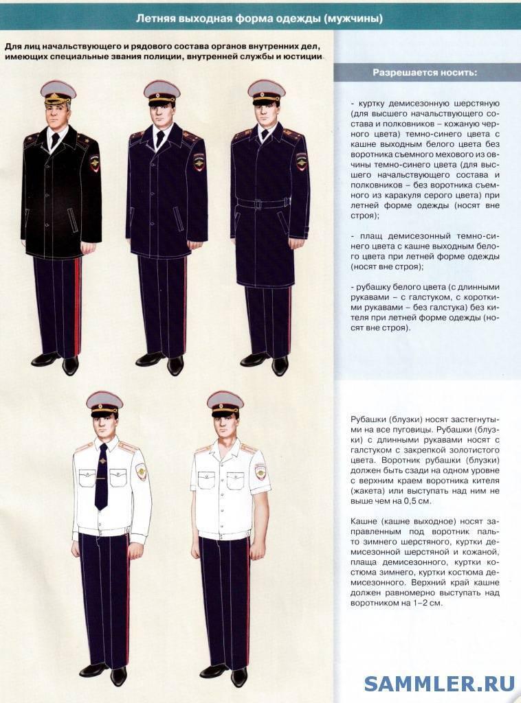 Правила ношения формы сотрудниками полиции, нормы приказа мвд россии