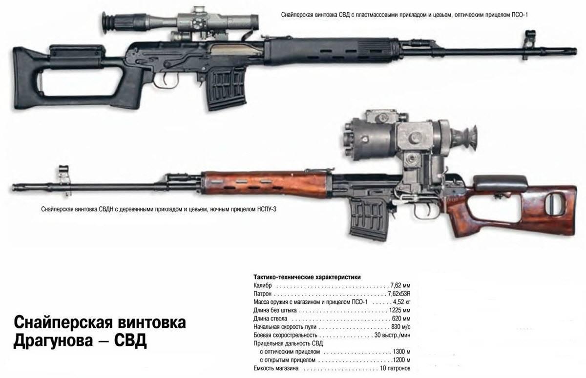 Винтовка драгунова. снайперская винтовка драгунова (свд)