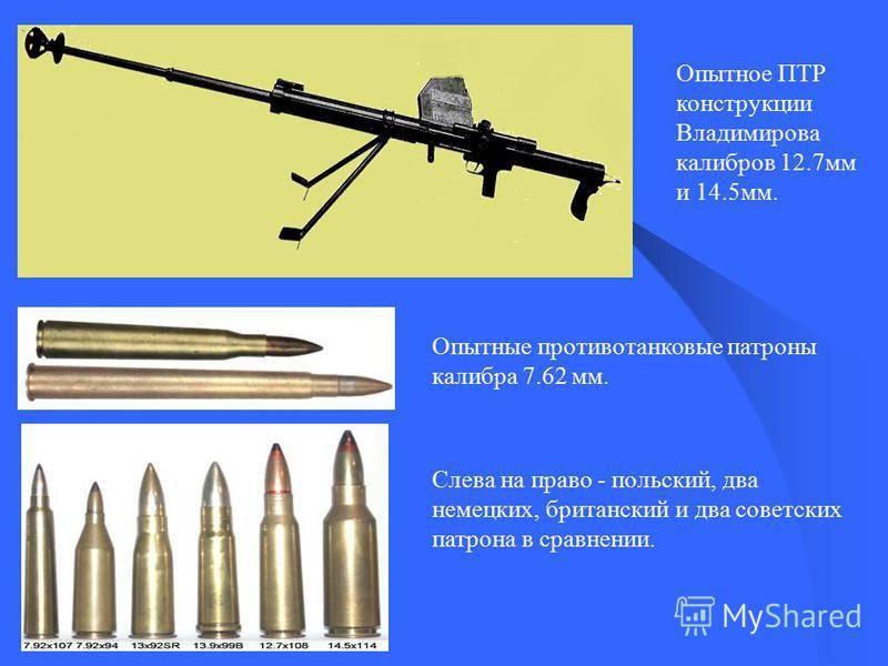 Противотанковое ружье Владимирова - экспериментальное.