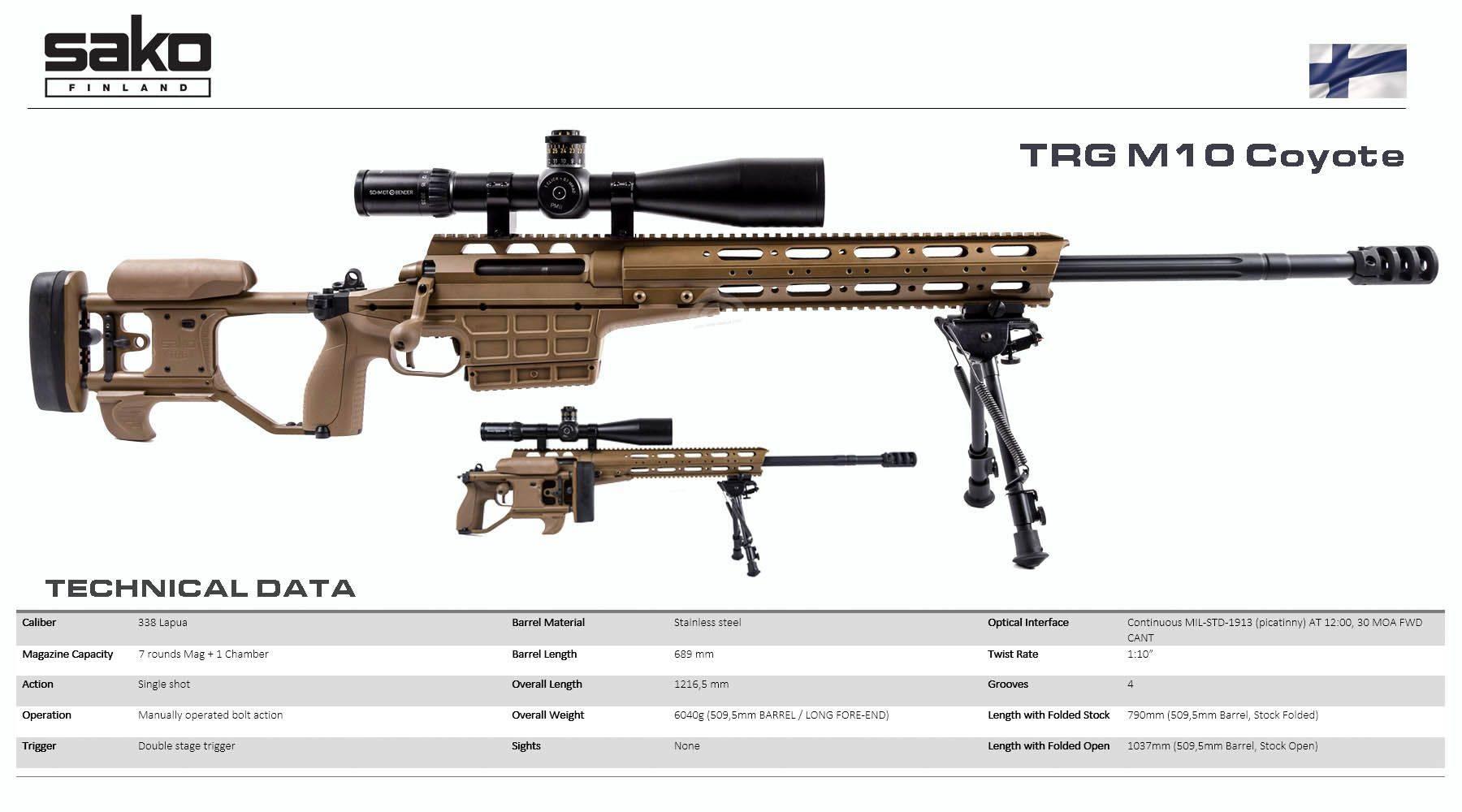 Снайперская винтовка Sako TRG M10