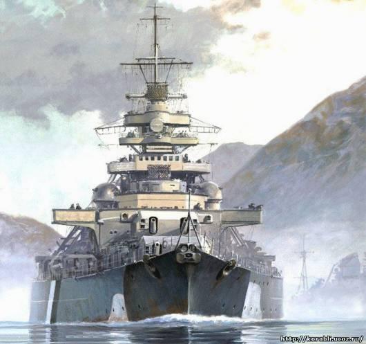 Линкор бисмарк - легендарный линкор третьего рейха