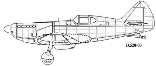 Dewoitine D.520 – крылатая мисс Франция