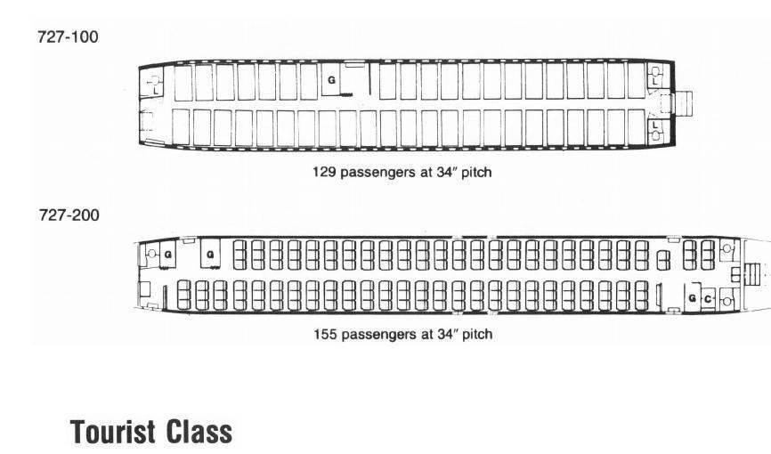 Схема салона boeing 757–200: лучшие места