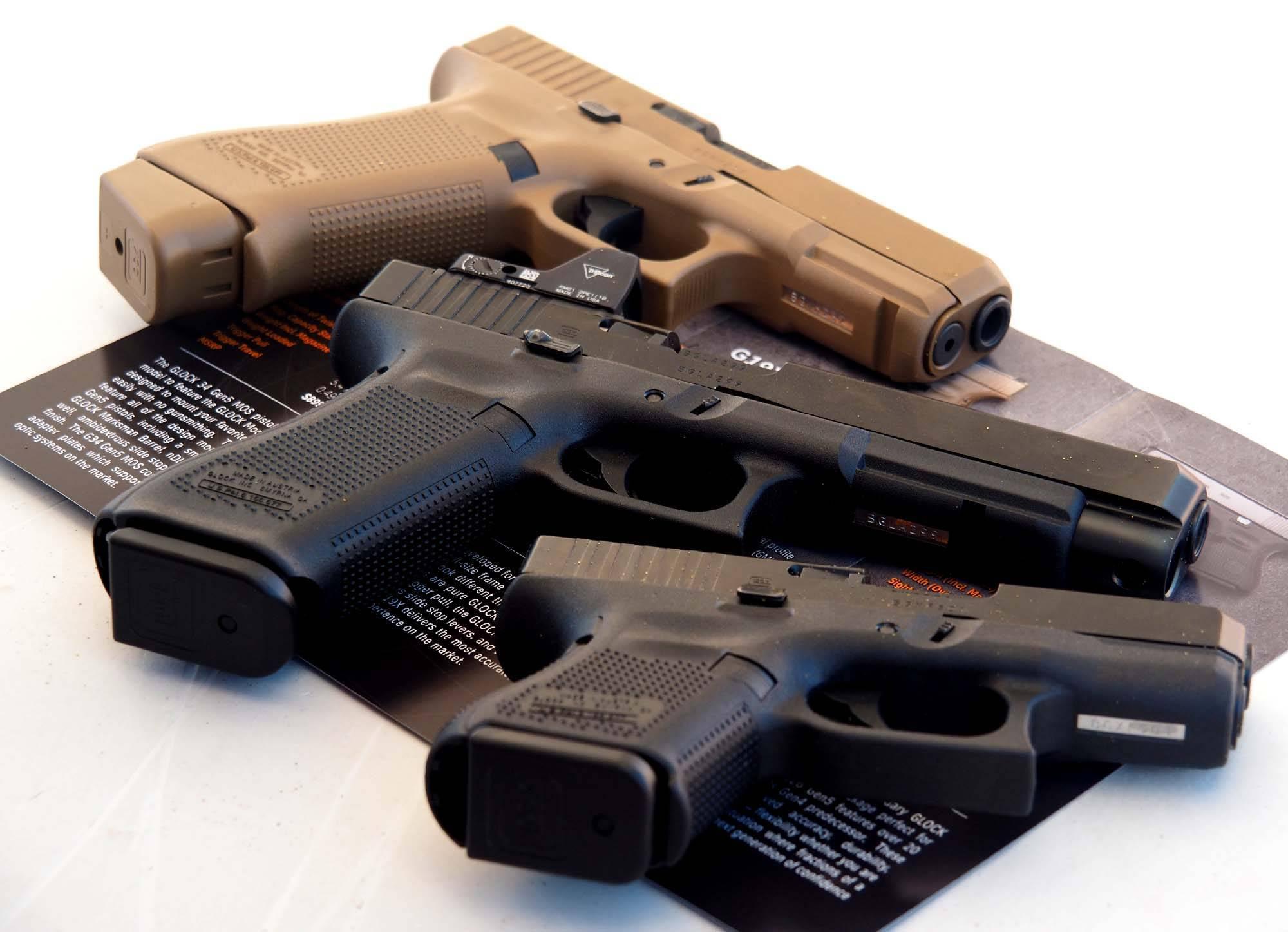Пистолеты Glock 26 Gen5 и Glock 34 Gen5 MOS (пятое поколение)