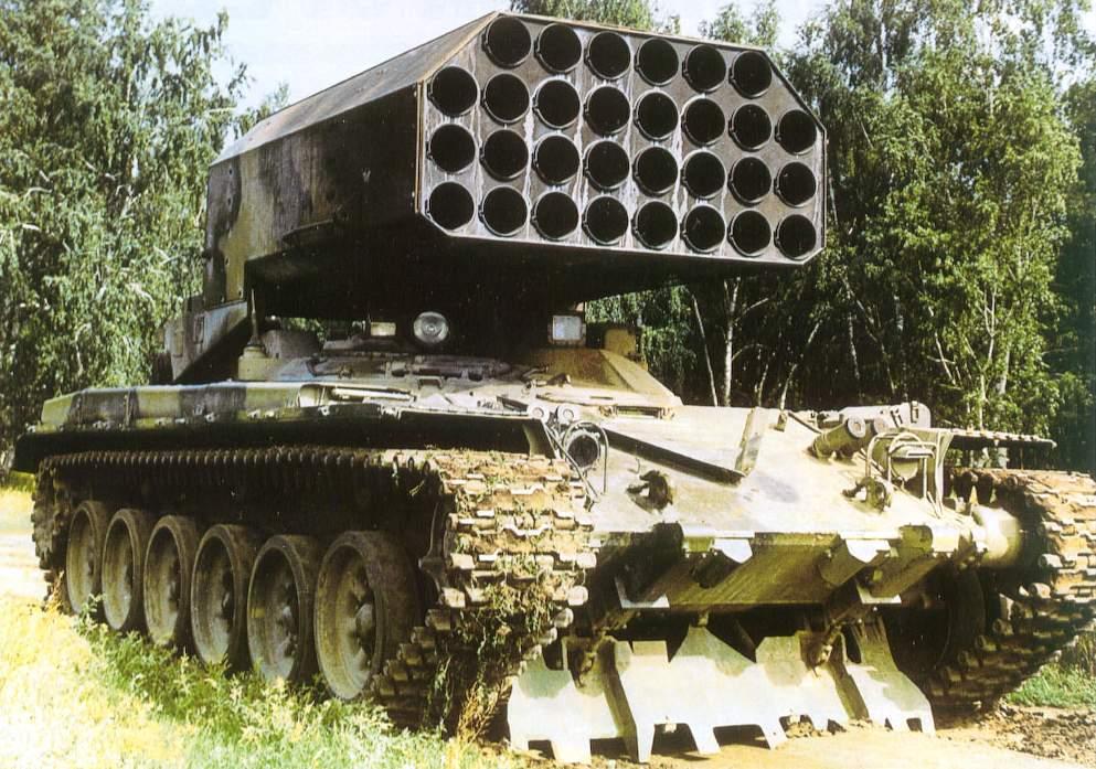 Тос-1 «буратино» (тос-1а «солнцепек») — тяжелая огнеметная система калибр 220-мм
