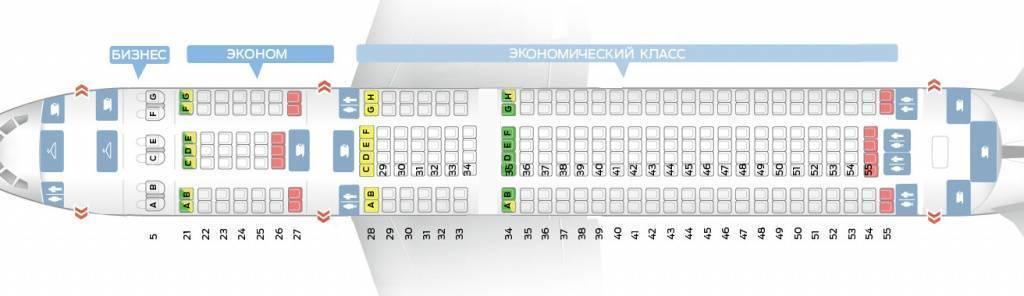Расположение мест в самолете боинг 737 800  лучшие места самолета, схема салона в боинге, расположение мест с фото