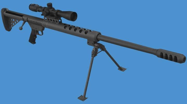Крупнокалиберная снайперская винтовка serbu bfg-50 / bfg-50a
