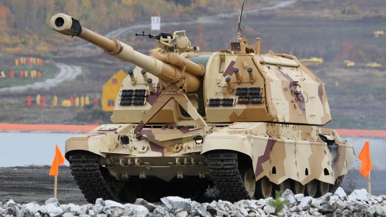 """Двуствольная самоходная артиллерийская установка (гаубица) 2с36 """"коалиция-св"""" - впк.name"""
