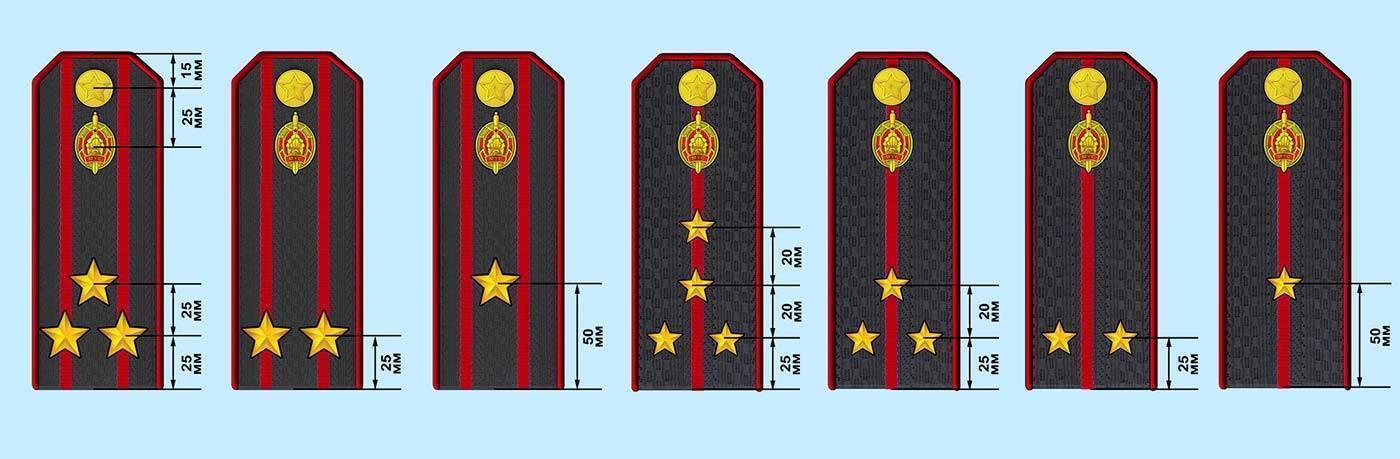 Особенности погон полиции, отличия в зависимости от звания