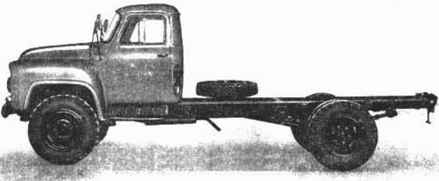 Советский грузовик-среднетоннажник газ 52