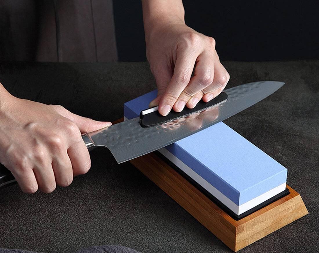 Как и с помощью каких материалов проводится правильная заточка ножей?