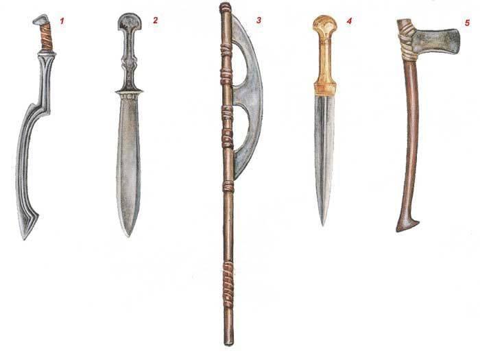 Какое оружие использовали еще древние египтяне. хопеш — египетское оружие на страже городов