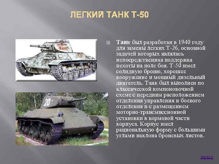 Т-50 – легкий советский танк времен второй мировой войны