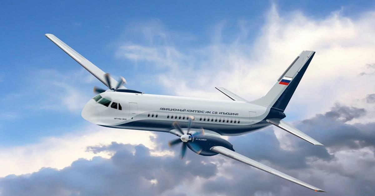 Узкофюзеляжный ближнемагистральный пассажирский самолет Ил-114