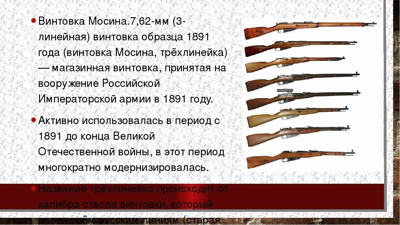 Трехлинейка 7,62-мм винтовка мосина