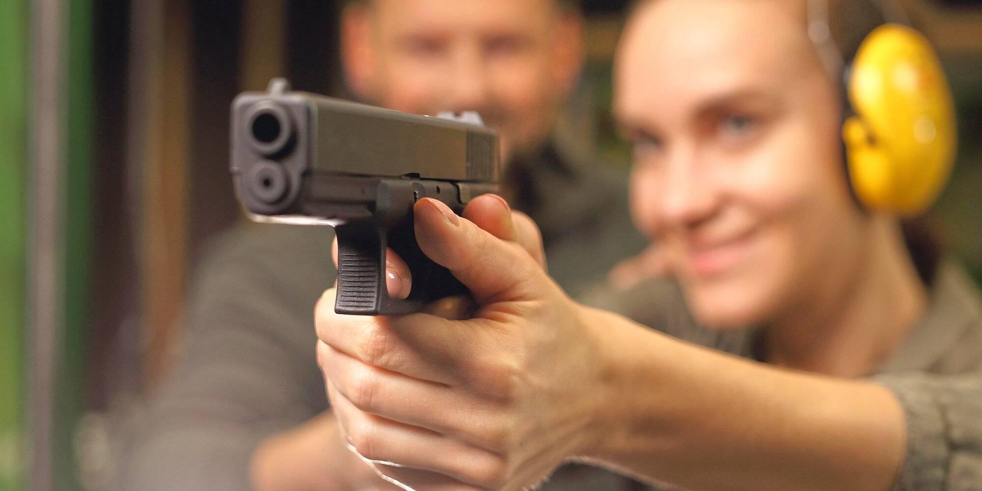 Учебная стрельба из пистолета
