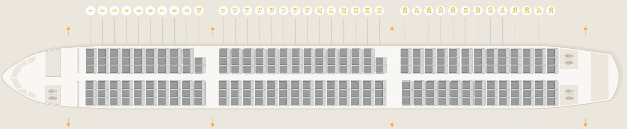 Схема салона самолета аэробус а330 200 норд винд