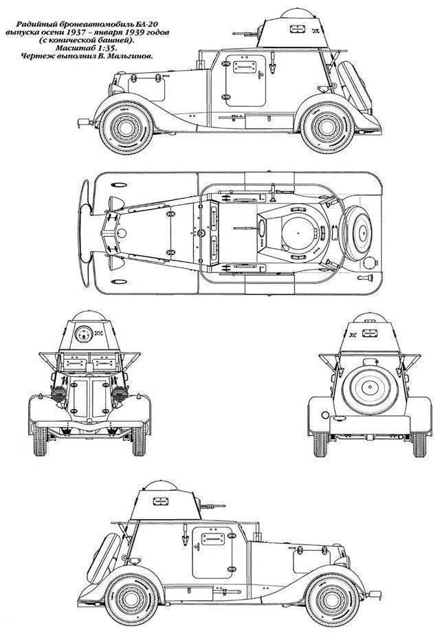 Бронеавтомобиль БА-20 – пуленепробиваемая «эмка»