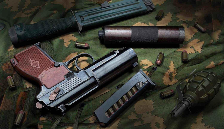 Краткое руководство службы: 9-мм самозарядный пистолет для бесшумной и беспламенной стрельбы.