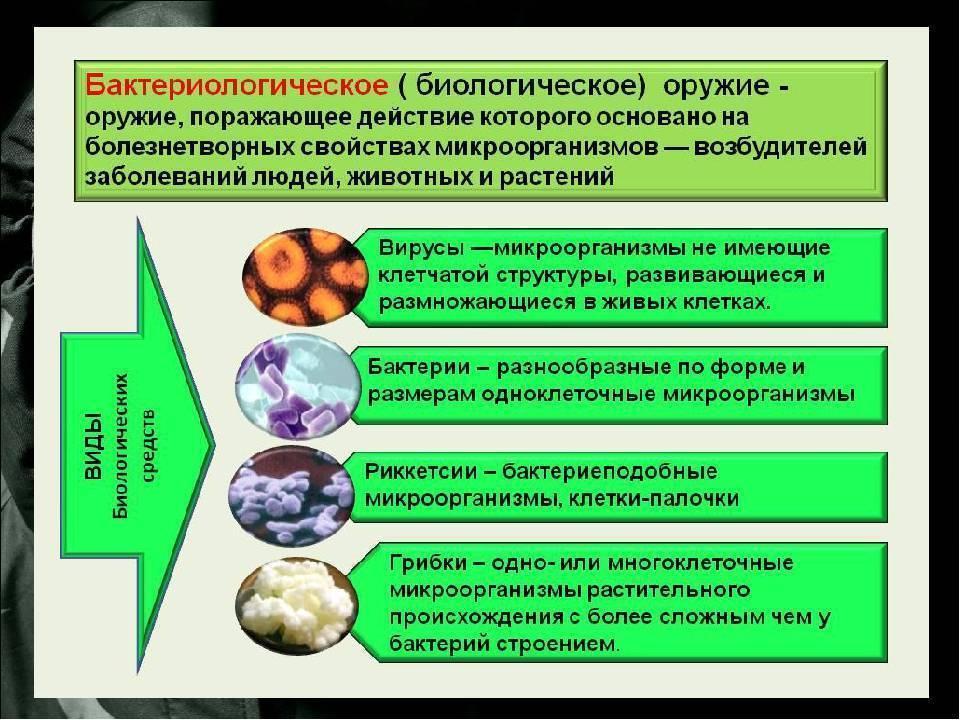 Современные средства поражения и их поражающие факторы |бактериологическое (биологическое) оружие. понятие о бактериологическом оружии