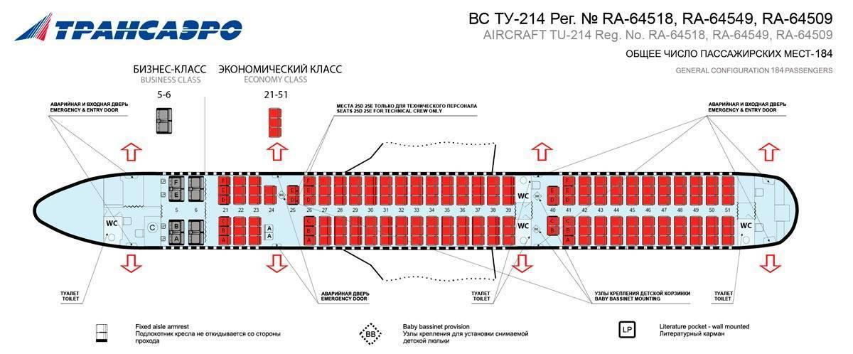 Самолет ту-214: фото и видео, схема салона, характеристики