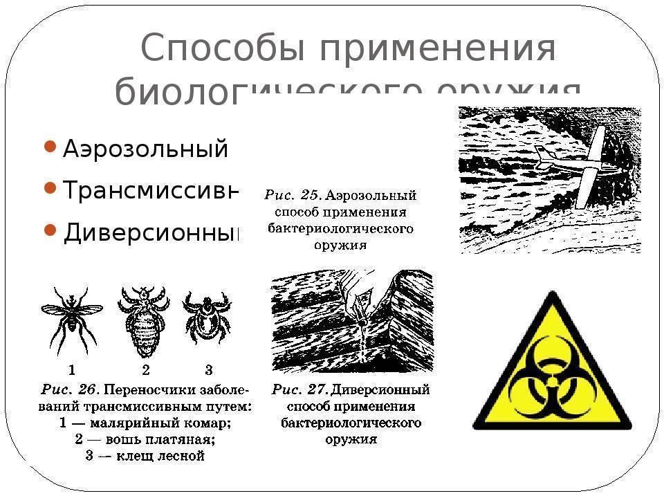 Биохимическое оружие. биологическое (бактериальное) оружие: история, свойства и способы защиты