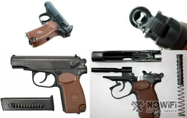 Крупный калибр. травматический пистолет grand power т-15f