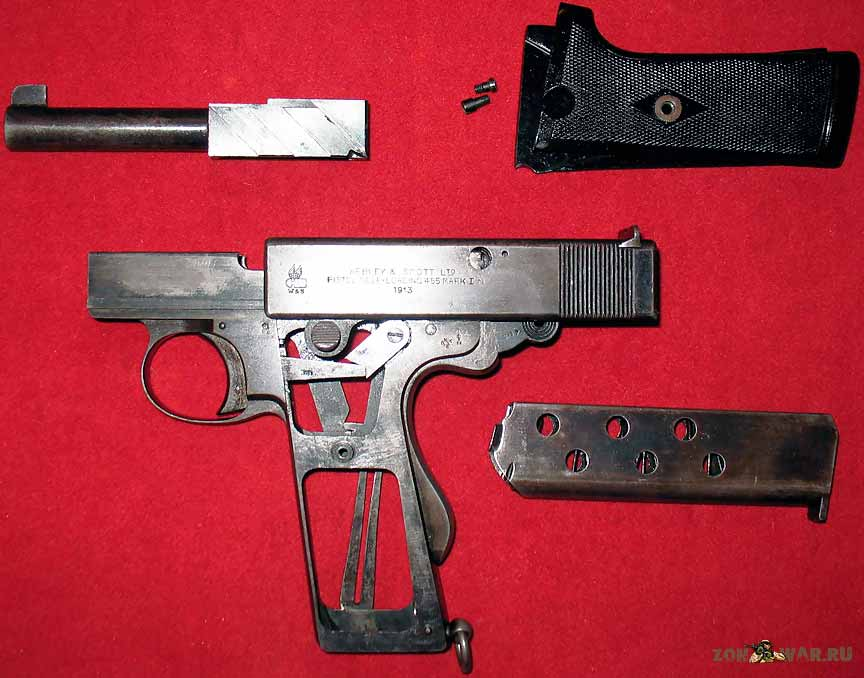 Пистолет Webley-Scott Mark I 1912