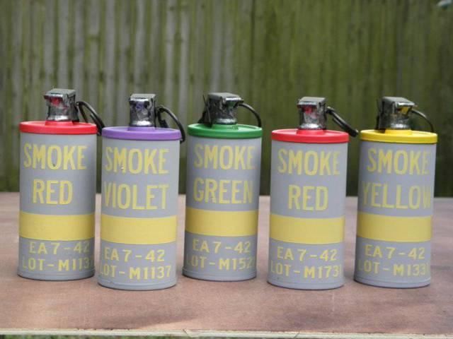 Дымовые гранаты — для маскировки и не только