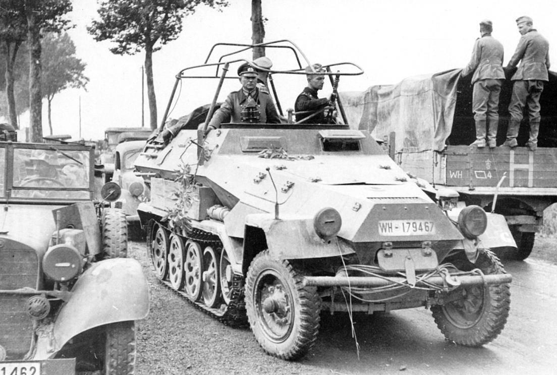 Основные модификации бронетранспортера sd.kfz.251