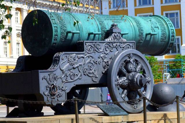 Царь пушка архитектор. огромная царь-пушка маленького царя